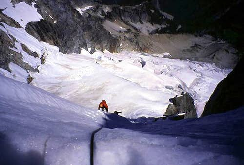 Our third pitch of climbing...