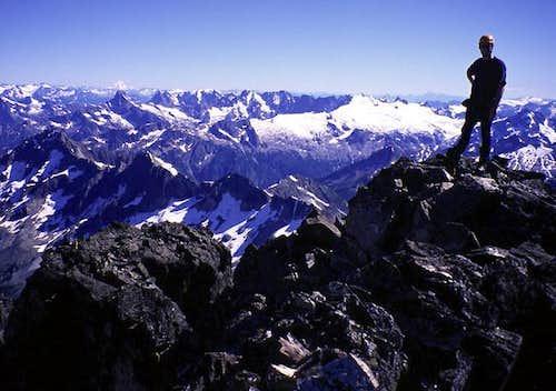 Robert Meshew on the summit,...