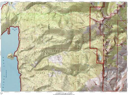 Topo map of the access routes...
