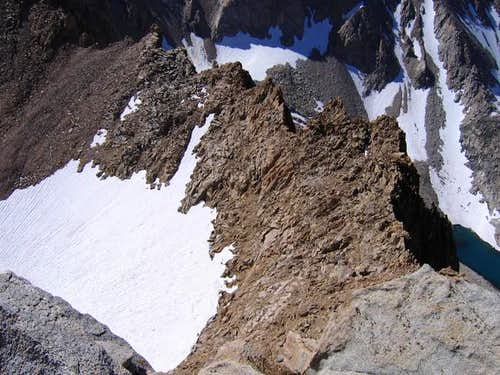 Mt Haeckel's South Ridge from...