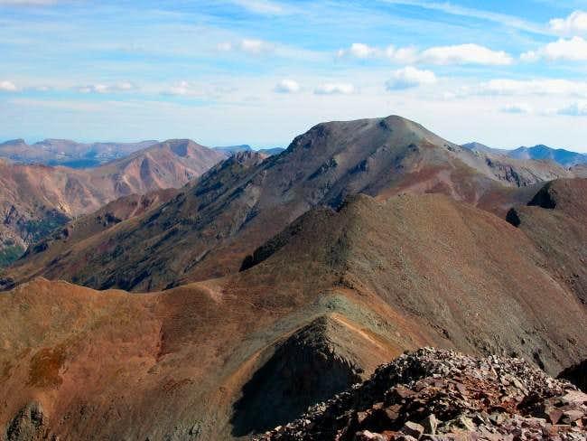 Handies Peak from the summit...