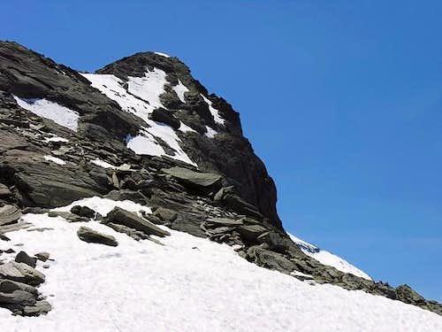 NE slope of punta de la...