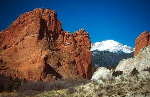 Pikes Peak seen through the...
