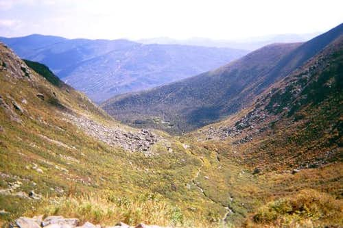 Looking down at Tuckerman...