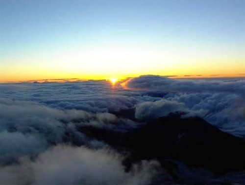 Sunrise from 12,000 feet on...