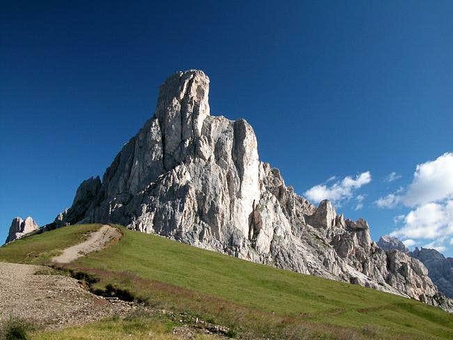 Ra Gusela (2595m) from Passo...