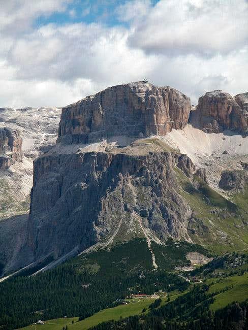 Sass Pordoi (2950m) as seen...