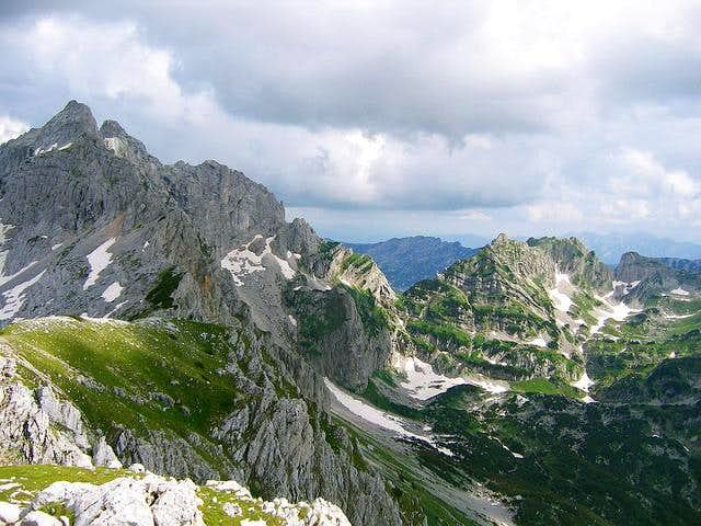 Peaks of Durmitor from Planinica