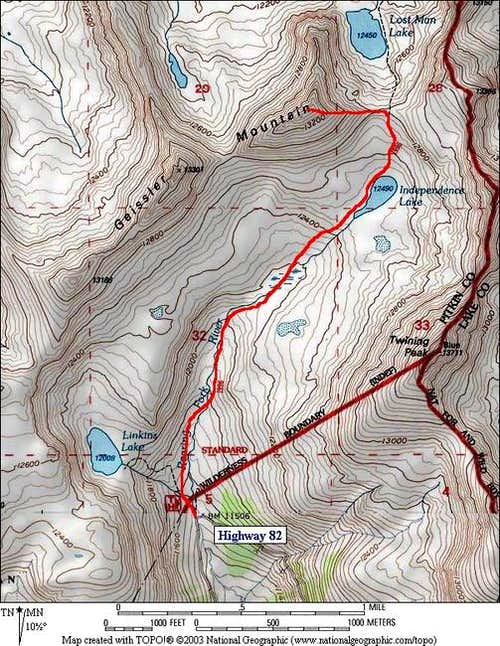 The East Ridge Route from the...