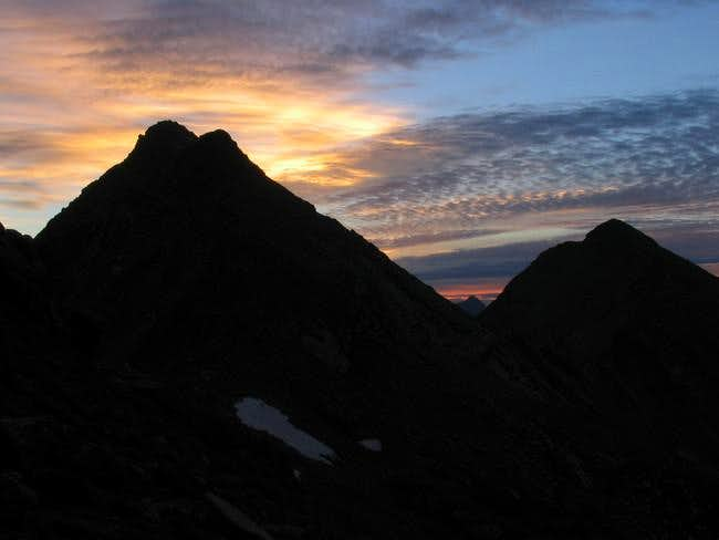 Sunrise from Jagged Pass on...