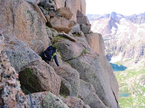 The airy 120 ft traverse...