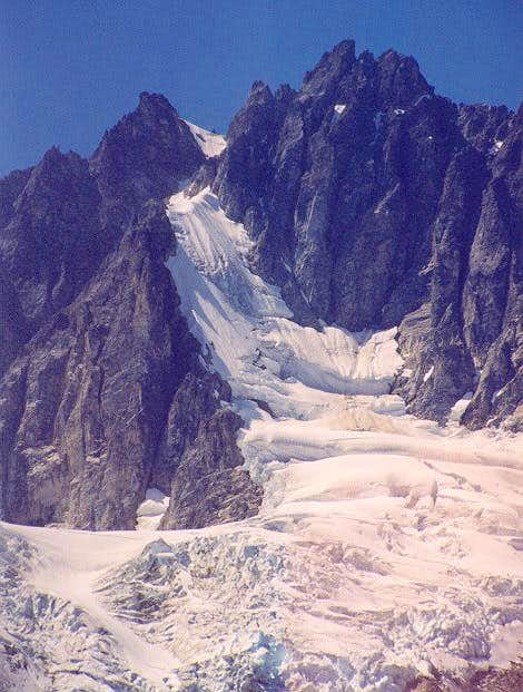The steep lobe of glacier is...