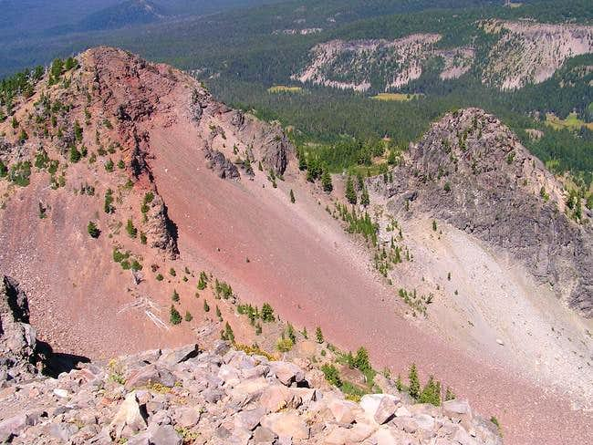 Looking north from the summit...