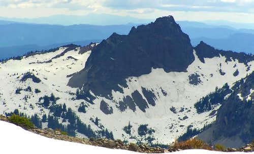Summit pinnacle from the...