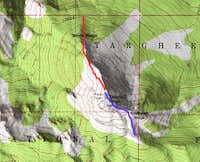 Map of Sawtell Peak.