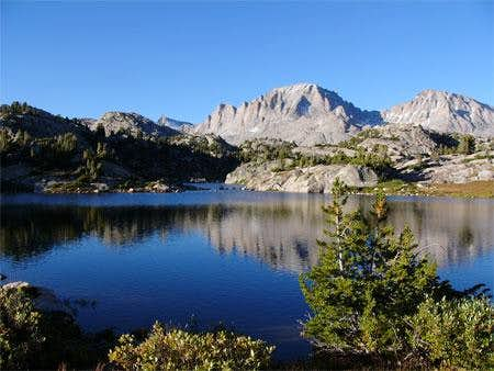 Fremont Peak (center) and...