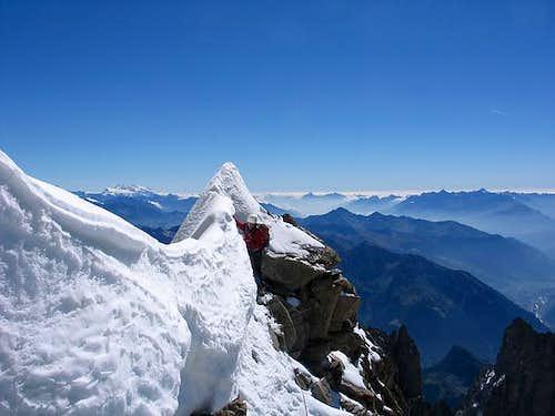 Climbing the Innominata ridge...