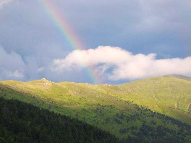 Top slopes of Nidze mountain...