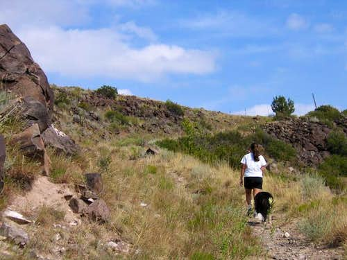 Trail up Black Mesa