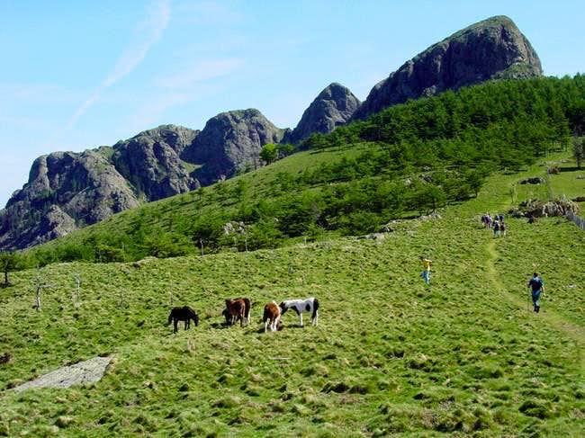 Peñas de Aia in the route...
