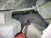 Ice in the rock glacier (NE...