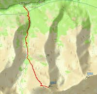 GPS track log of standard...