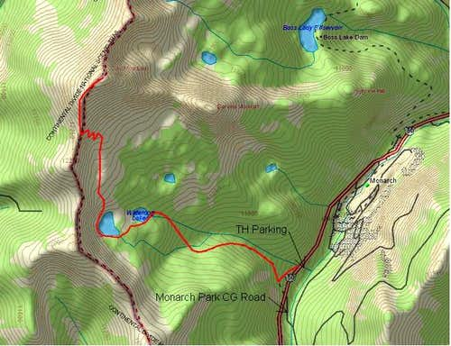 Topo map of the Waterdog...