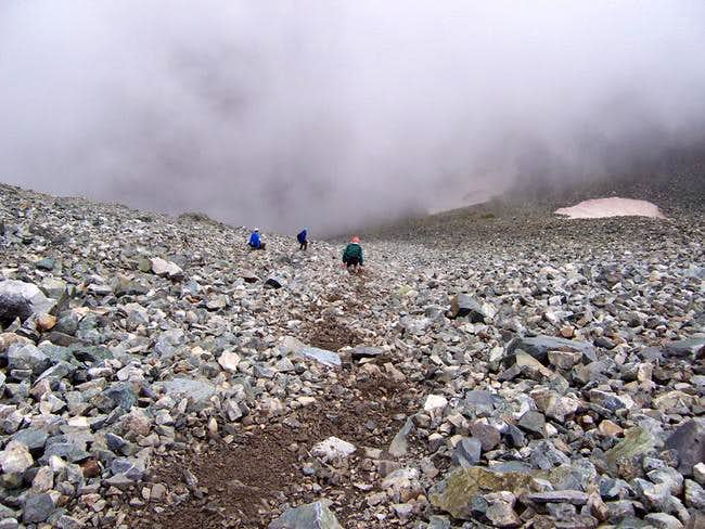 Our group descending the...