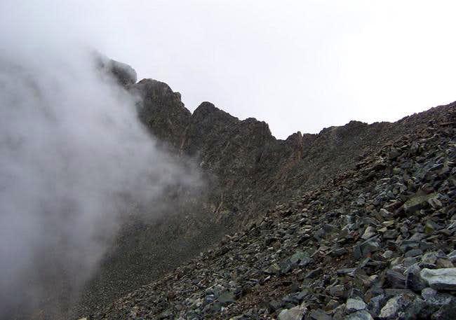 The Ellingwood-Blanca ridge...