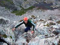 Climber gaining the ridge...