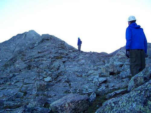 Climbers eye the summit of...