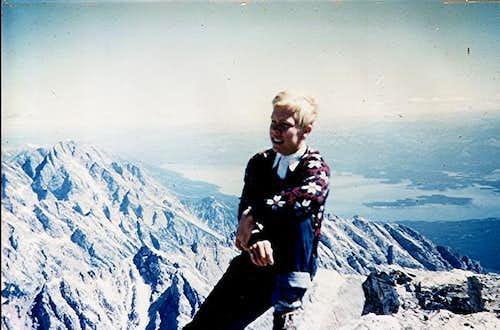 Nyle Walton, age 16, atop of...