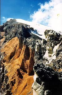 Crater and summit of...