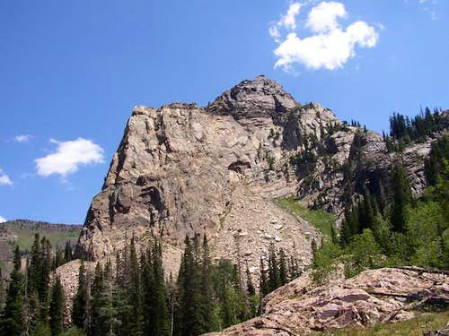 West face of Sundial Peak.