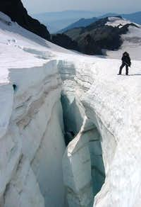 200ft. crevasse...
