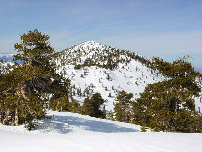 Drury Peak in winter white,...