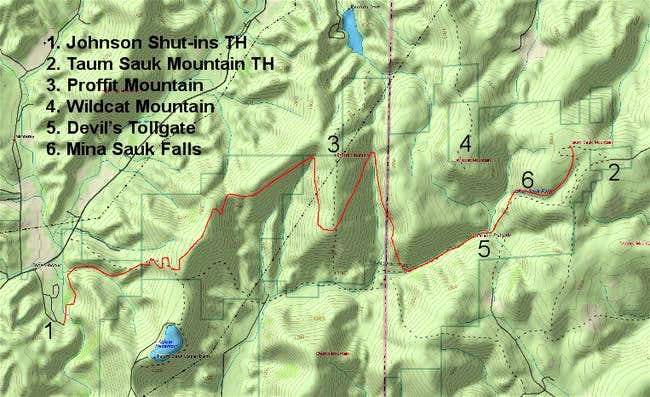 Topo map showing the general...