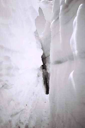 Crevasse on the Sulfide Glaicer
