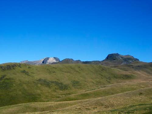 Guagua Pichincha (left) and...