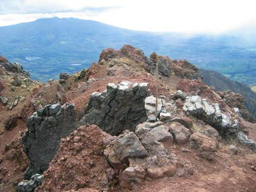 The summit of Ruminahui Norte...