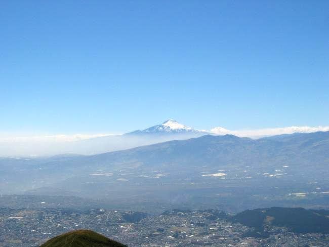 View of Cayambe from the...