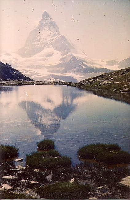 Matterhorn and reflection in...