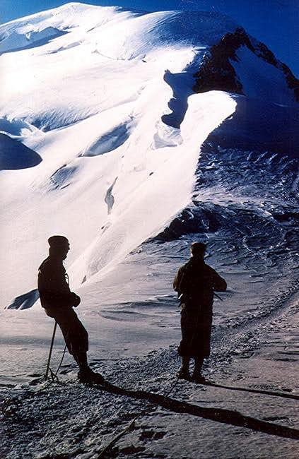 Two German climbers ready to...