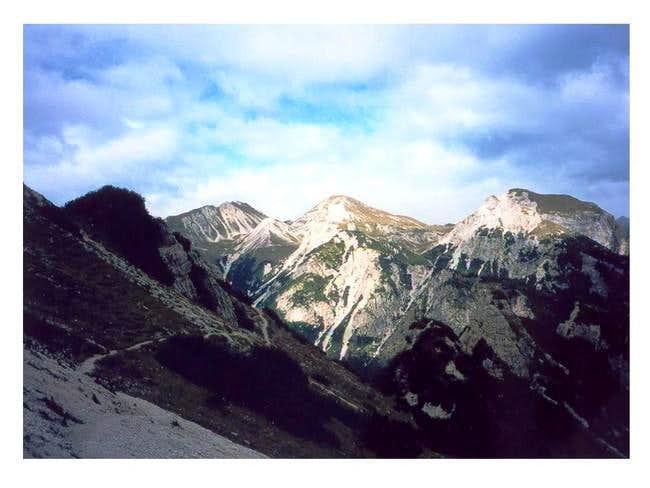 A mountainous range lying...