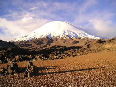 parinacota seen from the...