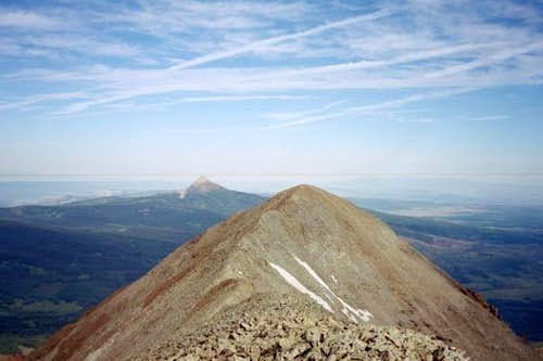 A view of Middle Peak, with...