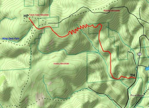 Topo map of the general...