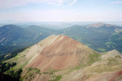 Looking down at Dunn Peak.