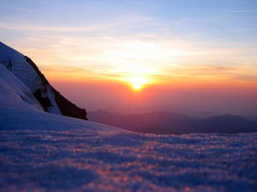 Sunset, 9,000 ft. Mt. Baker
