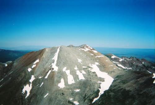 A view of Middle Peak.